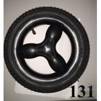 Колесо 12 дюймов черное с подшипником надувное (280х65)