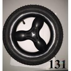 Колесо 12 дюймов черное с подшипником надувное (280х65) для детской коляски