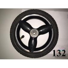 Колесо 10 дюймов черное с подшипником надувное (50х160) для детской коляски