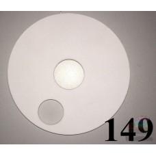 Накладка на колесо 10 дюймов белого цвета 934 0