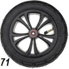 Колесо 10 дюймов черное с подшипником надувное