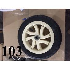 Колесо 10 дюймов Черное с подшипником надувное (белый диск (10х1,75х2 (47х152)) для детской коляски