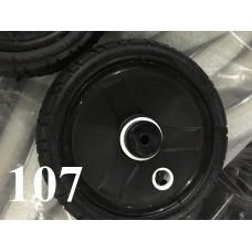 Колесо 10 дюймов Черное с подшипником надувное (с белым) (50х160)