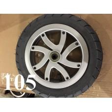 Колесо 10 дюймов Черное с подшипником надувное (серый диск) (10х1,75х2) для детской коляски