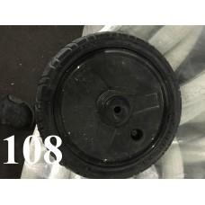 Колесо 10 дюймов Черное с подшипником надувное (сплошной диск) (50х160)