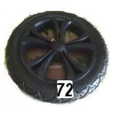 Колесо 12 дюймов черное с подшипником надувное