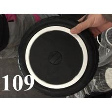 Колесо 12 дюймов Черное с подшипником надувное (белый обод) (407х203 112 1/2х 1,75х2 1/4)