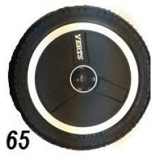 Колесо 12 дюймов черное с подшипником надувное (белый обод, надпись)  (280х65)