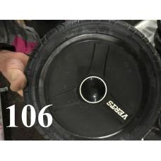 Колесо 12 дюймов Черное с подшипником надувное (черный с надписью) для детской коляски