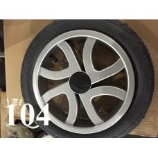 Колесо 12 дюймов Черное с подшипником надувное (серый диск) Польша 1300.00р.